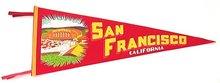SAN FRANSICO CALIFORNIA FELT PENNANT 1950S