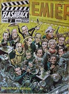FLASHBACK MOVIE MAGAZINE ~ OLD VINTAGE 1972 FLASHBACK MOVIE MAGAZINE #1