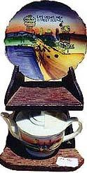 Las Vegas Teapot and Plate 1950s Souvenir