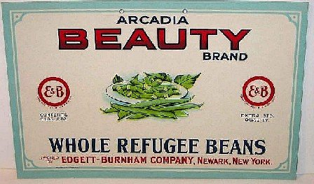 2 VINTAGE TOMATO GREEN BEAN VEGETABLE SIGNS