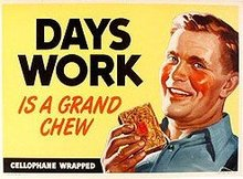 DAYS WORK TOBACCO SIGN * OLD VINTAGE CHEWING