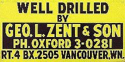 Geo Zent Drill Metal Sign
