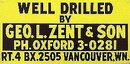 Geo Zent Drill Metal Sign