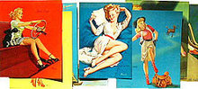 10 VINTAGE PINUP PRINT LITHOS * OLD LITHOGRAPH