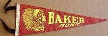 Baker Montana Felt Pennant