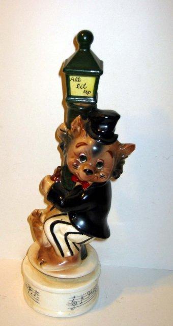 DRUNK CAT STATUE * OLD VINTAGE DRUNKEN CAT