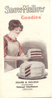 SNOW MELLOW CAKE BOOKLET * OLD VINTAGE 1913 SNOW-MELLOW CAKE RECIPE BOOKLET