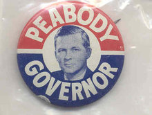 PEABODY GOVERNOR PIN * OLD VINTAGE 1960S ENDICOTT PEABODY GOVERNOR POLITCAL PIN PINBACK Massachussetts