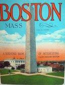 BOSTON SOUVENIR BOOKLET * OLD VINTAGE BOSTON SOUVENIR COLOR PHOTO BOOKLET