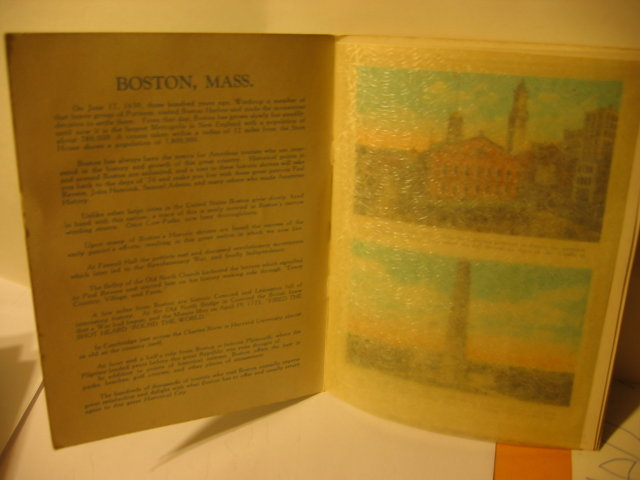 BOSTON SOUVENIR BOOKLET * OLD VINTAGE BOSTON SOUVENIR COLOR PHOTO BOOKLET