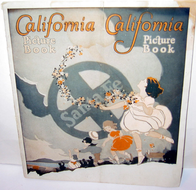 CALIFORNIA SOUVENIR BOOKLET * OLD VINTAGE CALIFORNIA SOUVENIR COLOR PHOTO BOOKLET