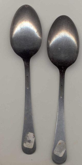2 Old Vintage USN United States NAVY Spoons