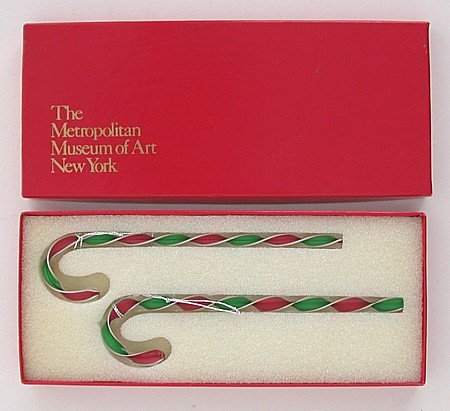 MOMA Crystal Candy Cane XMAS Ornaments