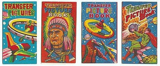 LOT JAPAN VINTAGE TRANSFER FLIP BOOKS TOYS