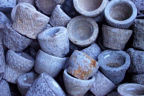 Stone Mortar Candleholder