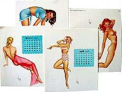 Varga Desktop Calendar Sheets