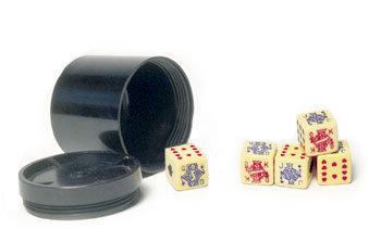 Bakelite Poker Cup Dice Toy Casino