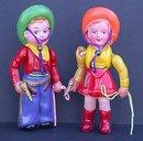 Celluloid Cowboy Cowgirl Dolls Toys
