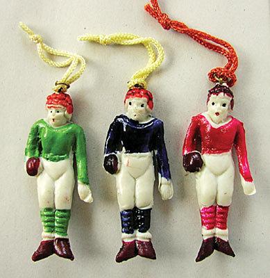 Football Dangler Toys - Vintage 1920s