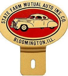 State Farm License Plate Topper
