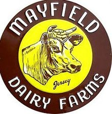 Mayfield Dairy Cow Jersey Sign