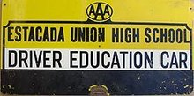 Estacada AAA Driver High School Education Sign