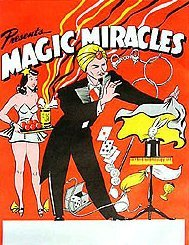 VINTAGE MAGIC MIRACLE MAGICIAN POSTER