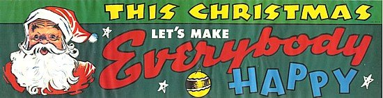 CHRISTMAS STORE SIGNS * 2 OLD VINTAGE XMAS