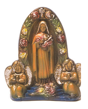VINTAGE RELIGIOUS MOTHER MARY CHALKWARE STATUE