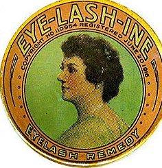 ANTIQUE EYELASH TIN * OLD VINTAGE makeup tin