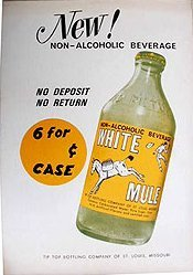 White Mule Soda Poster 1940s