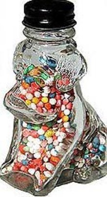 Glass Dog Candy Jar 1940s