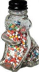 Glass Dog Candy Jar 1940s