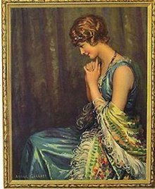 VINTAGE LITHO PRINT * OLD VINTAGE LOVERS