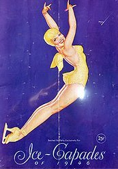 VINTAGE PETTY GIRL ICE CAPADES SKATING BROCHURE