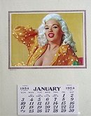 Jayne Mansfield Calendar 1954