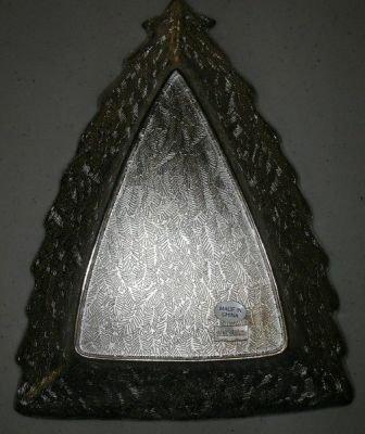 International Silver Xmas Candy Tray