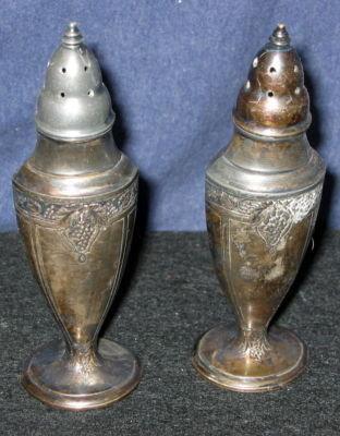 Astor Silver Salt Pepper Shakers