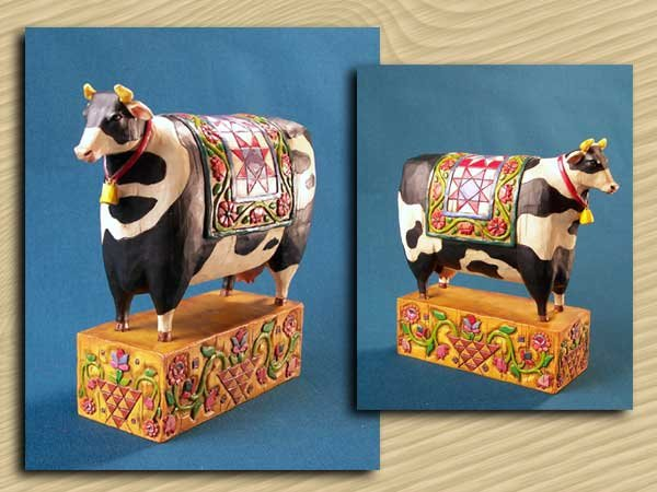 Cow Folkart Statue * JIM SHORE HEARTWOOD CREEK