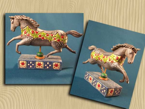 CAROUSEL HORSE STATUE - ENESCO JIM SHORE