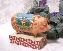 ENESCO PIG FIGURINE * JIM SHORE HEARTWOOD CREEK