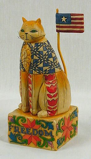 ENESCO PATRIOTIC CAT STATUE * JIM SHORE