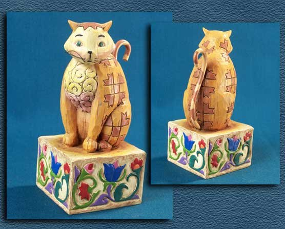 ENESCO JASPER CAT STATUE * JIM SHORE HEARTWOOD