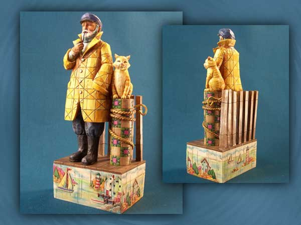 ENESCO FISHERMAN SHORELIGHTS STATUE * JIM SHORE