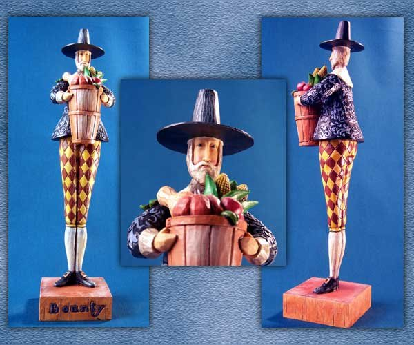 JIM SHORE PILGRIM MAN STATUE * ENESCO HEARTWOOD