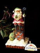 JIM SHORE SANTA CLAUS STATUE * ENESCO HEARTWOOD