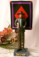 JIM SHORE AMISH MAN STATUE * ENESCO HEARTWOOD