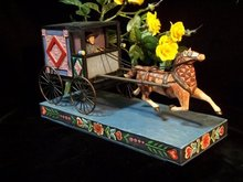 JIM SHORE AMISH HORSE BUGGY STATUE * ENESCO