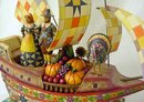 JIM SHORE PILGRIM SHIP STATUE * ENESCO
