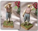 JIM SHORE GOLFER MAN STATUE * ENESCO
